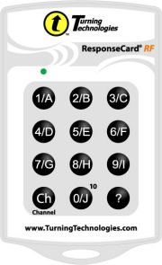 Audience response system keypad ResponseCard RF